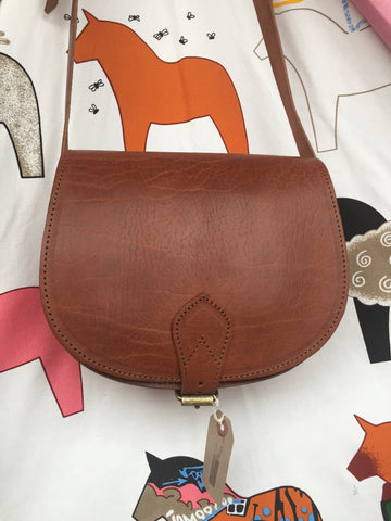 Artisan Tan Leather saddle bag