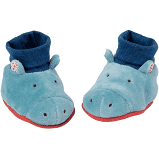 Baby blue hippo slippers