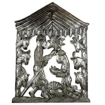 Recycled Steel Drum Nativity Scene Handmade and Fair Trade