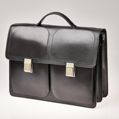 100% vegetable tanned leather briefcase - nextposh