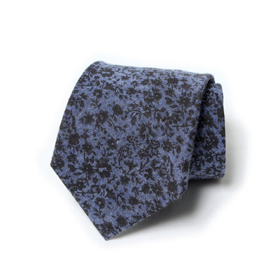 "Cravate Le Comptoir de Simba Cravate homme ""small Flower"" bleue"