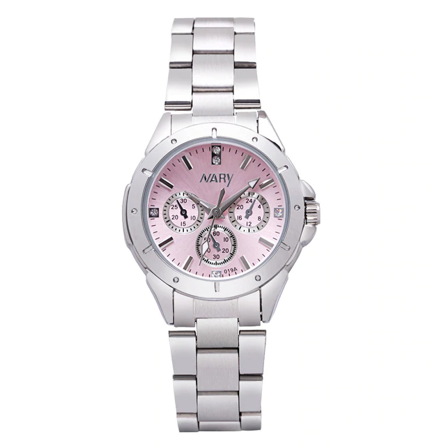 Stainless Steel Quality Ladies Quartz Rhinestone Watches