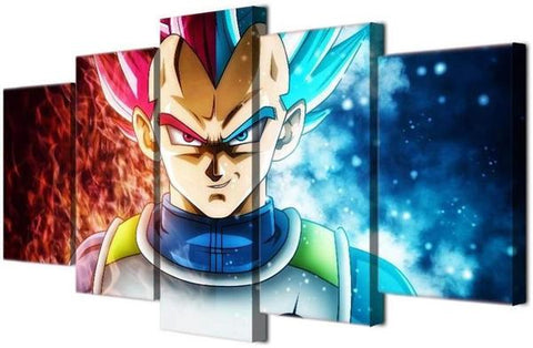 Tableau décoration Dragon ball Vegeta Deco-promo.com
