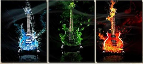 Table Deco Triptych Guitar discover the interior decoration on deco-promo.com