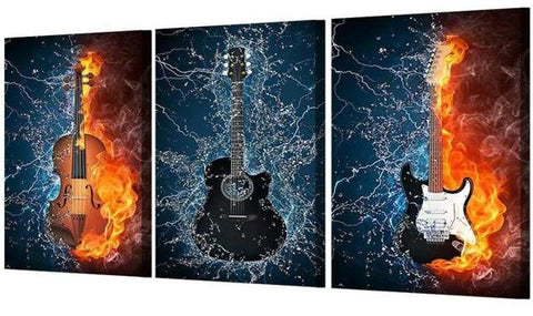 Table Deco Guitar triptych indretning deco-promo.com