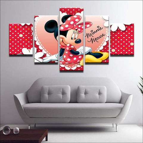 Walt Disney Minnie Rose Rot Dekotisch Girl deco-promo.com