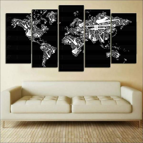 Decoration table world map cheap deco-promo.com