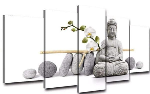 Table Deco 5 parter Buddha salong dekoration billigt på deco-promo.com