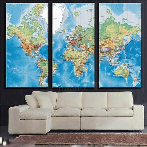 Table Map World living room wall decoration Discover our collection on deco-promo.com