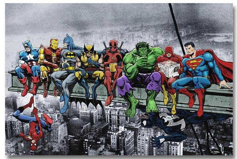 Innenwanddekoration DC Comics Marvel Superhelden deco-promo.com