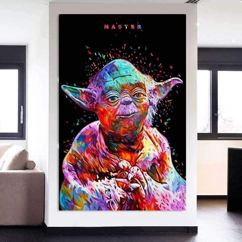 Poster Star Wars Yoda Graffiti samaritain Poster Star Wars