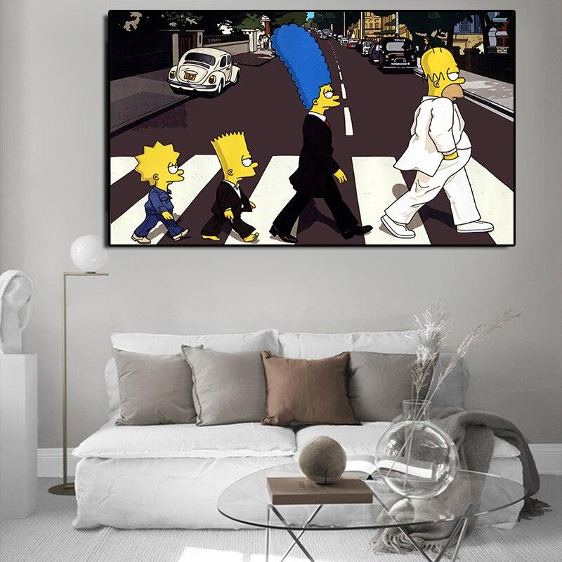 Simpson Abbey Road Painting