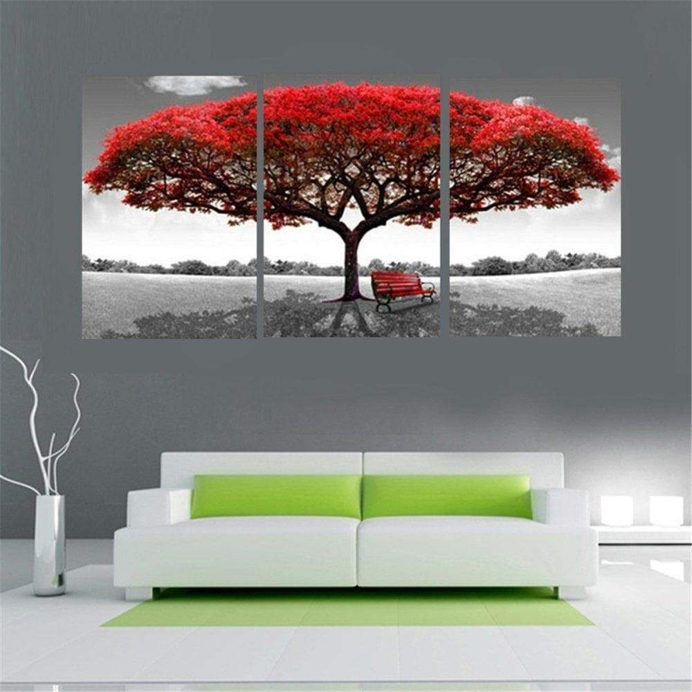 Red Tree Painting 3 Samaritan Parts Nature and Landscape Painting