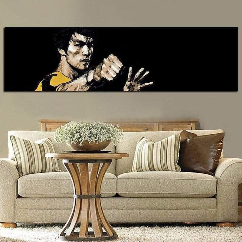 Bruce Lee large format samaritan painting celebrity painting