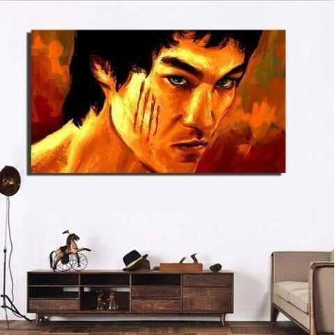 Bruce Lee painting the samaritan legend celebrity painting