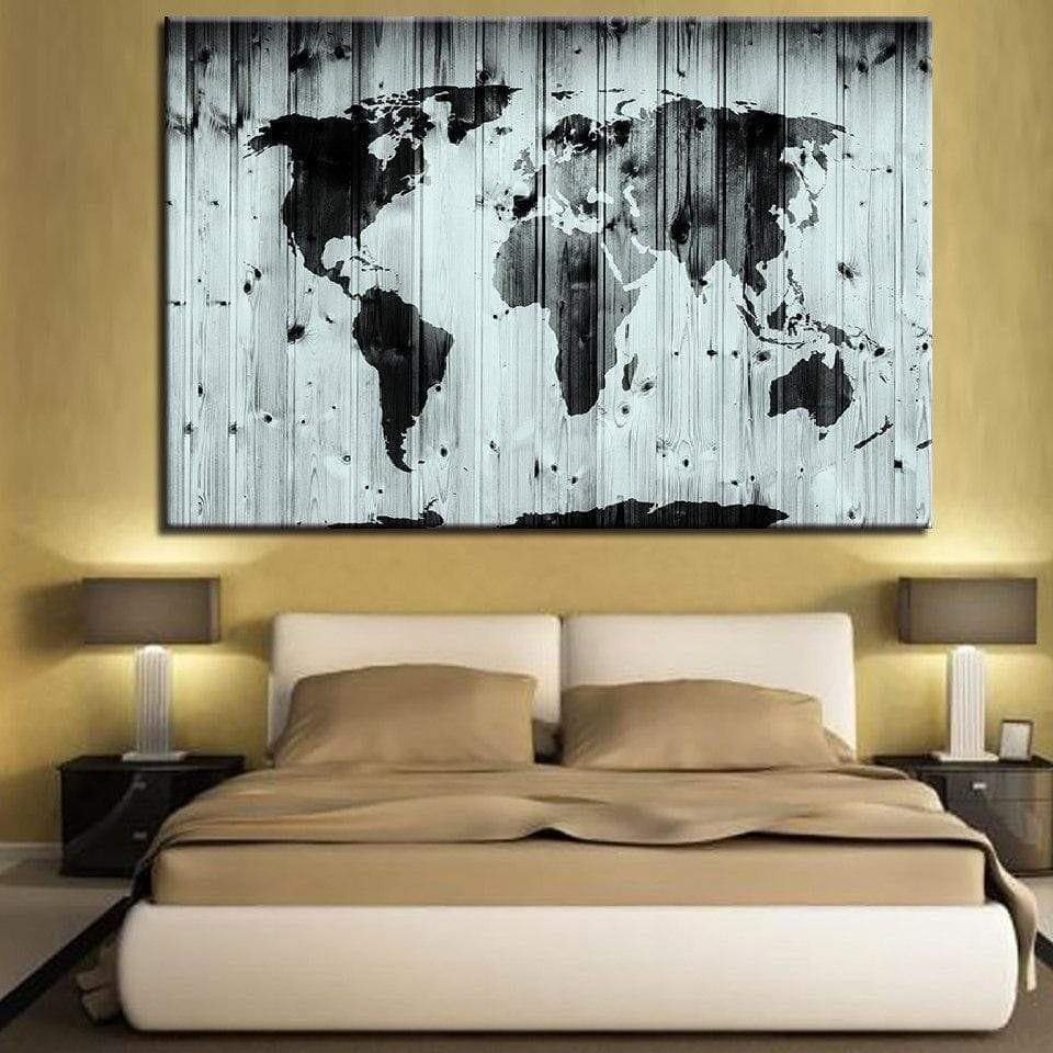 Samaritan Gray Wood World Map Table World Map Table