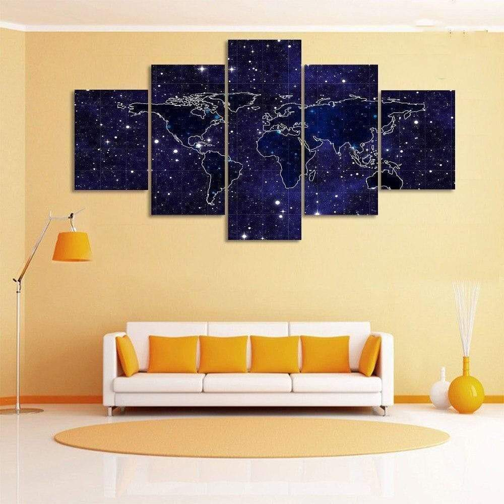 Starry Night Samaritan World Map Table World Map Table