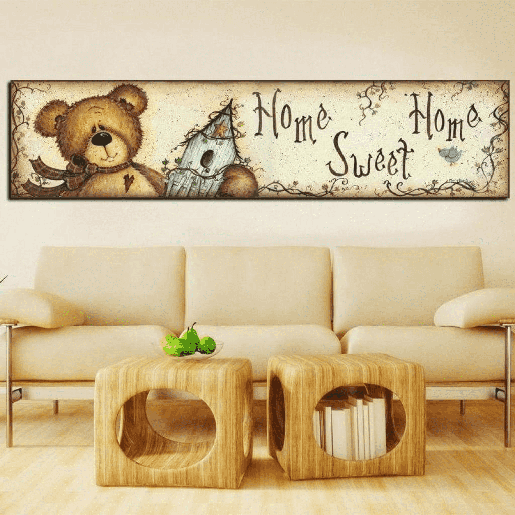 Teddy Bear Home Sweet Home Samaritan Children's Room Painting