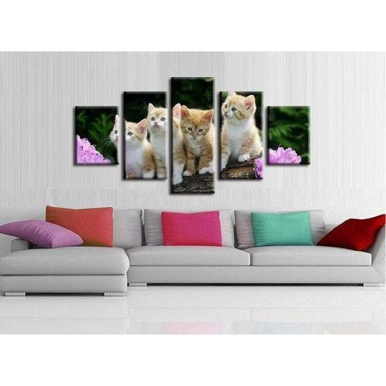 Tableau Chat Les Chatons samaritain Tableau chient chat