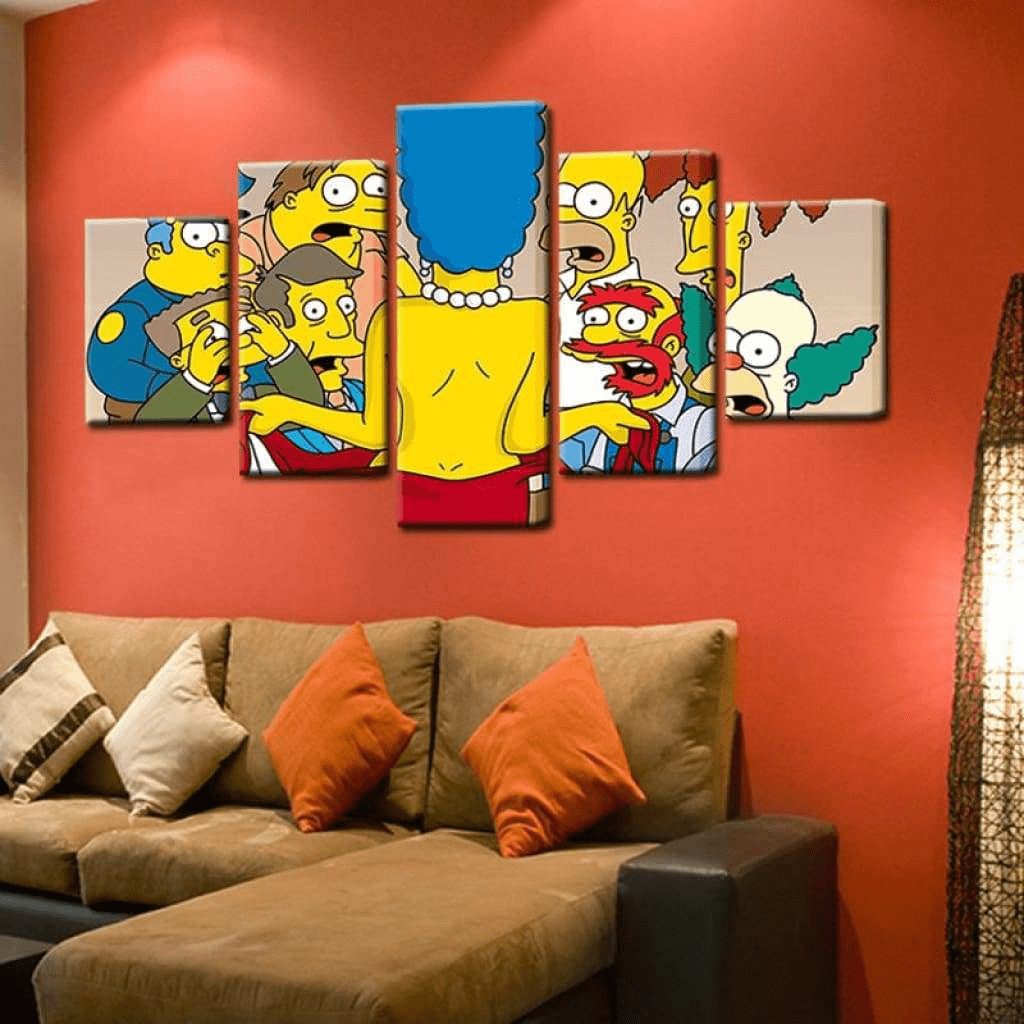 Simpsons tegnefilm Samaritan Cinema Painting