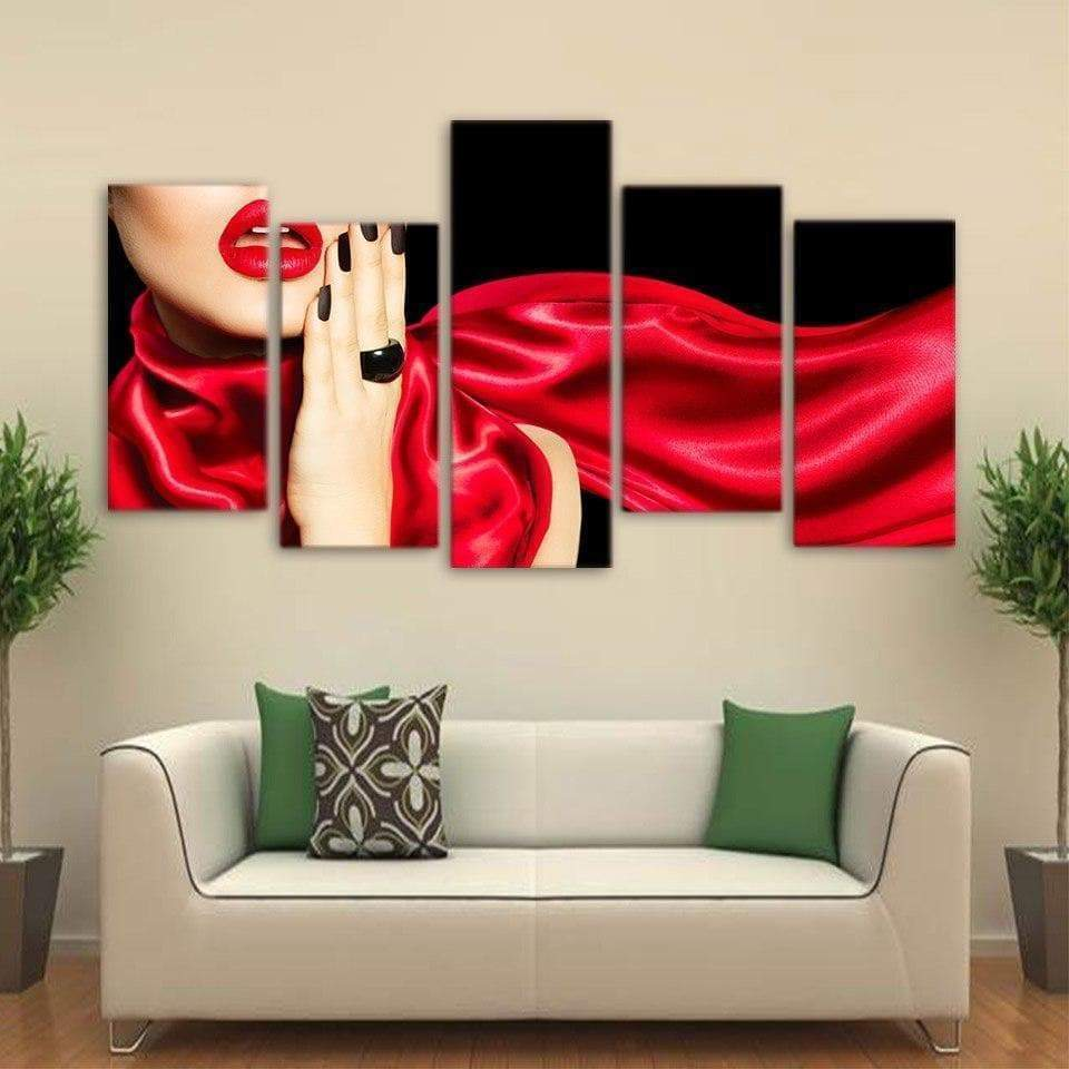 Fashion Sexy Women Red Samaritan Painting Sexy Painting