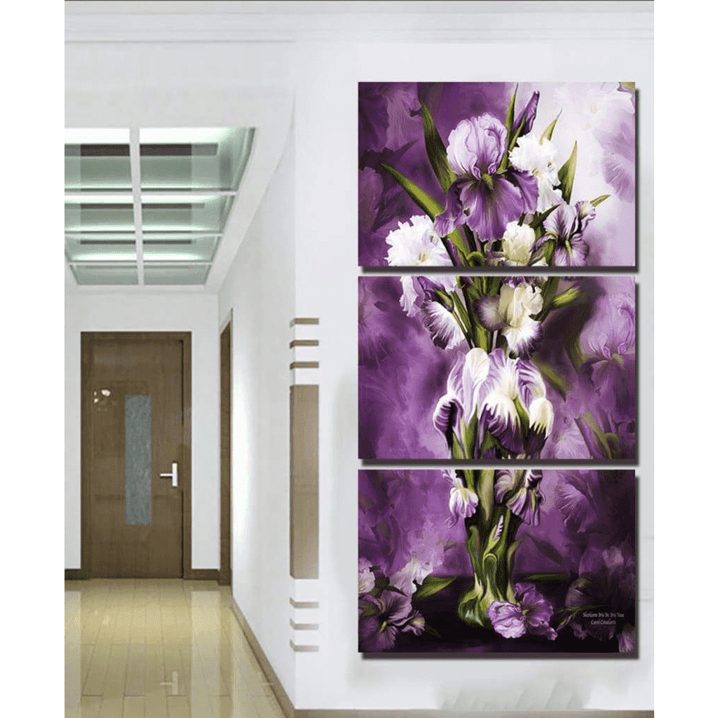 Samaritan Purple Flower Painting Flower Painting