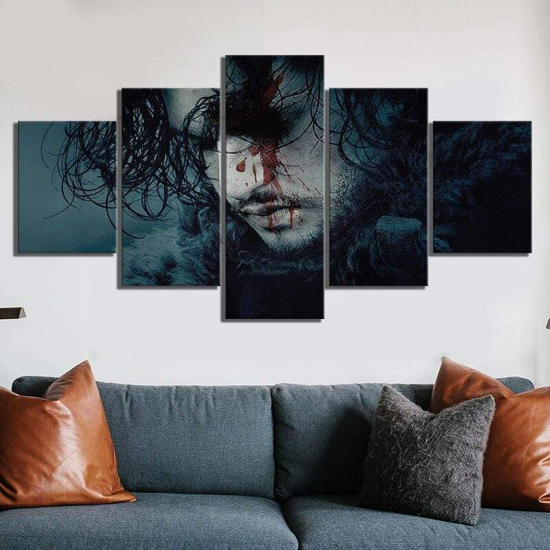 Tableau Game Of Thrones Jon Snow samaritain Tablau cinéma