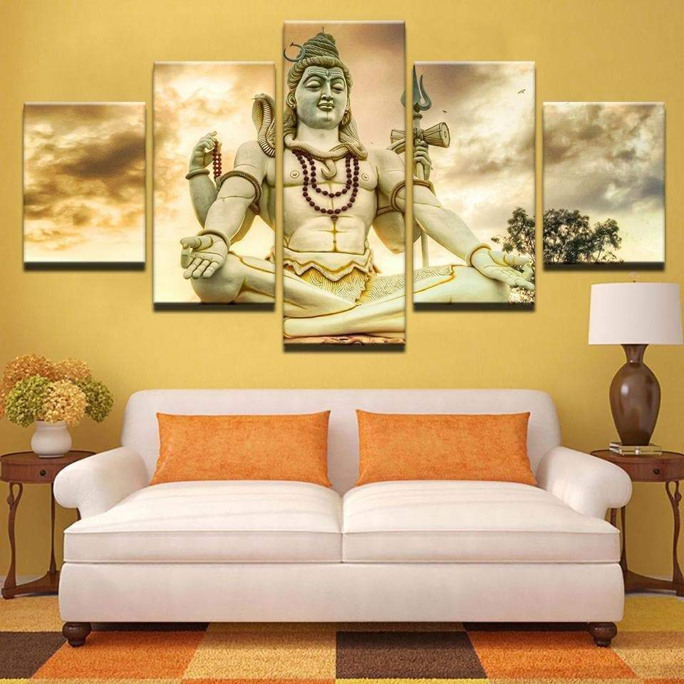 Tableau Hindou Lord Shiva - RUEDESTABLEAUX.COM
