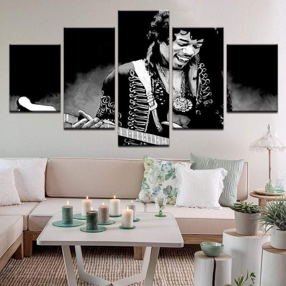 Jimi Hendrix The Black and White Samaritan Painting Character Painting