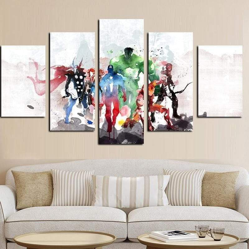 Marvel Dc Comics Painting Avengers Samaritan Watercolor Marvel Dc Comics Painting
