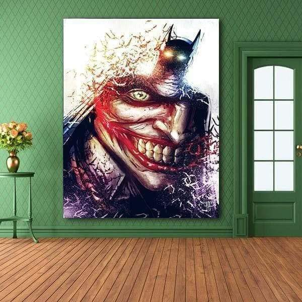 Tableau Marvel Dc Comics  Batman Joker samaritain Tableau Marvel Dc Comics