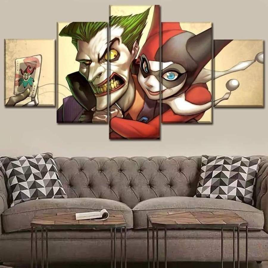 Marvel DC Comics Canvas Harley Quinn and the Samaritan Joker Marvel Dc Comics Canvas