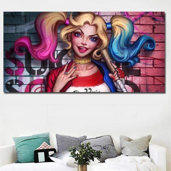 Marvel Dc Comics Painting Harley Quinn Samaritan Marvel Dc Comics Painting