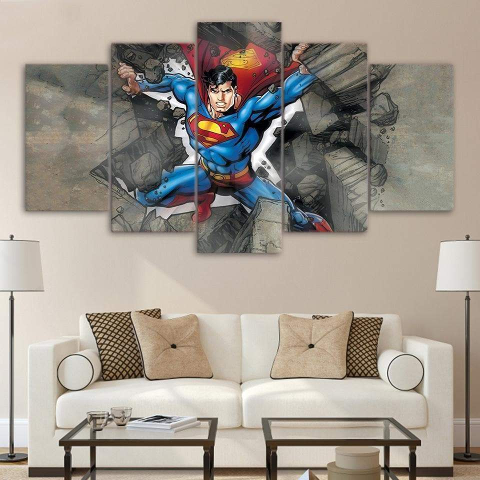 Marvel Dc Comics Superman Impresión de lienzo Samaritan Marvel Canvas