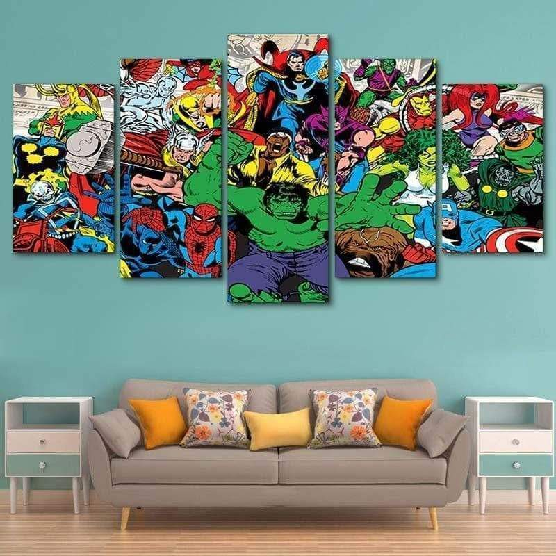 Marvel Comics Samaritan Super Heroes Painting Marvel Dc Comics Painting