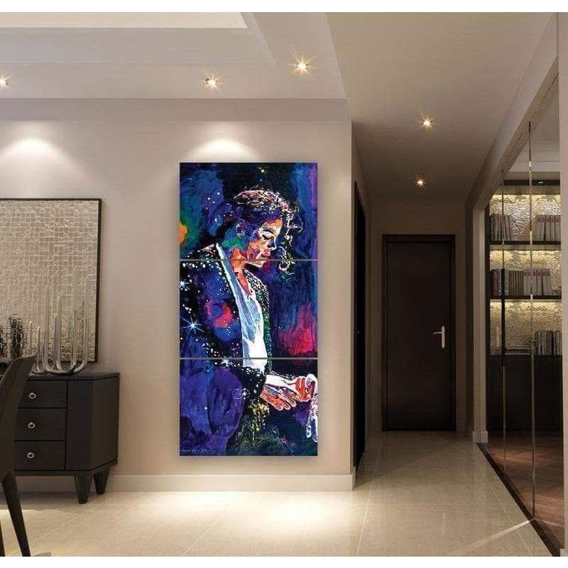 Michael Jackson Samaritan Superstar painting