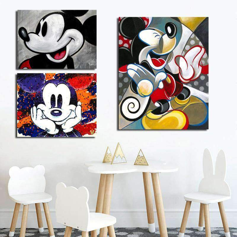 Tableau Mickey Mouse Animation samaritain