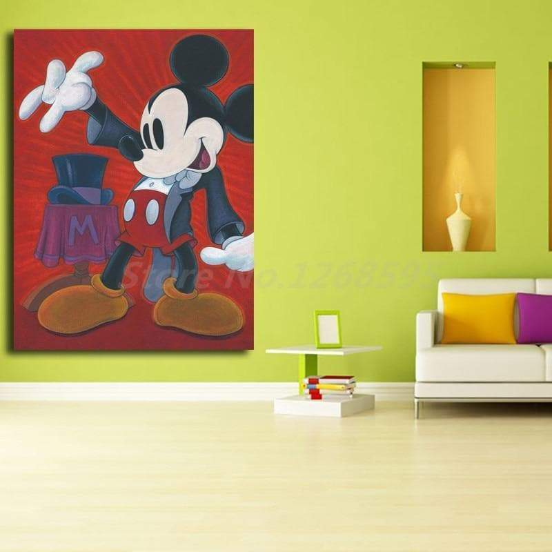Mickey Mouse painting The Samaritan Magician Walt Disney painting
