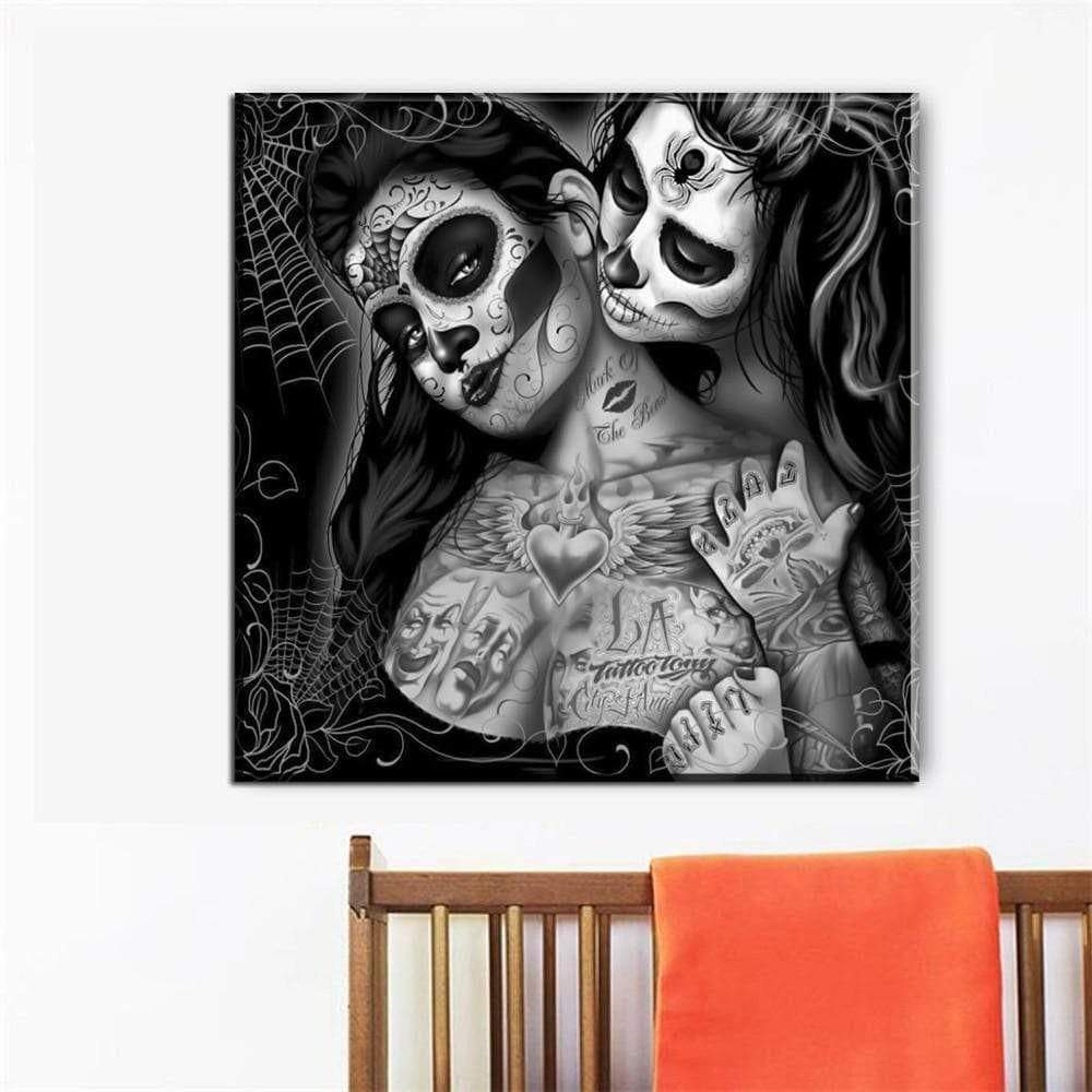 Tableau Moderne Skull Girls Don't Cry samaritain Tableau Moderne