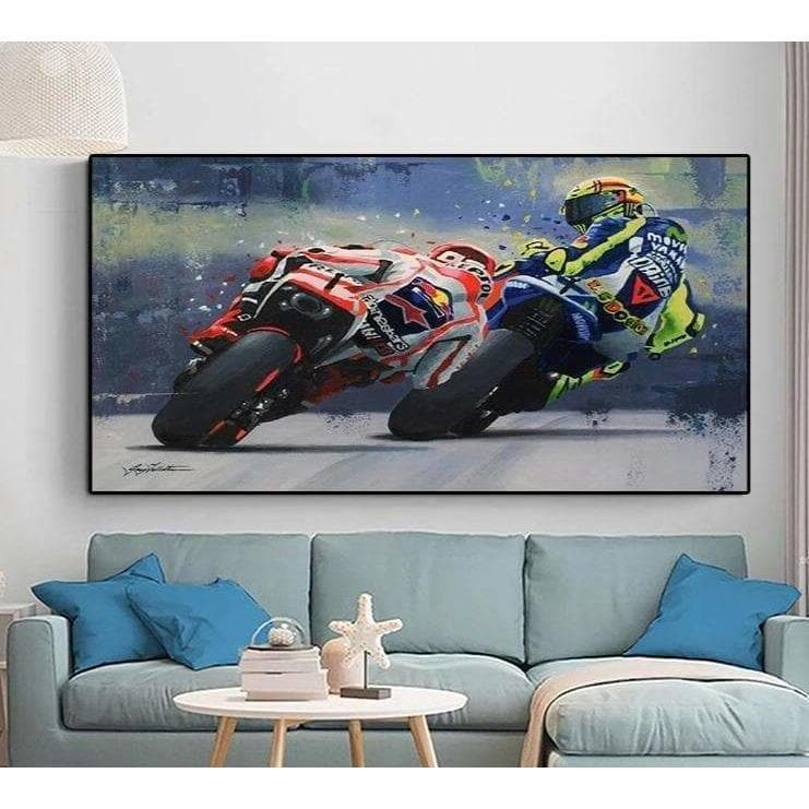 Tableau Moto Valentino Rossi - ruedestableaux.com