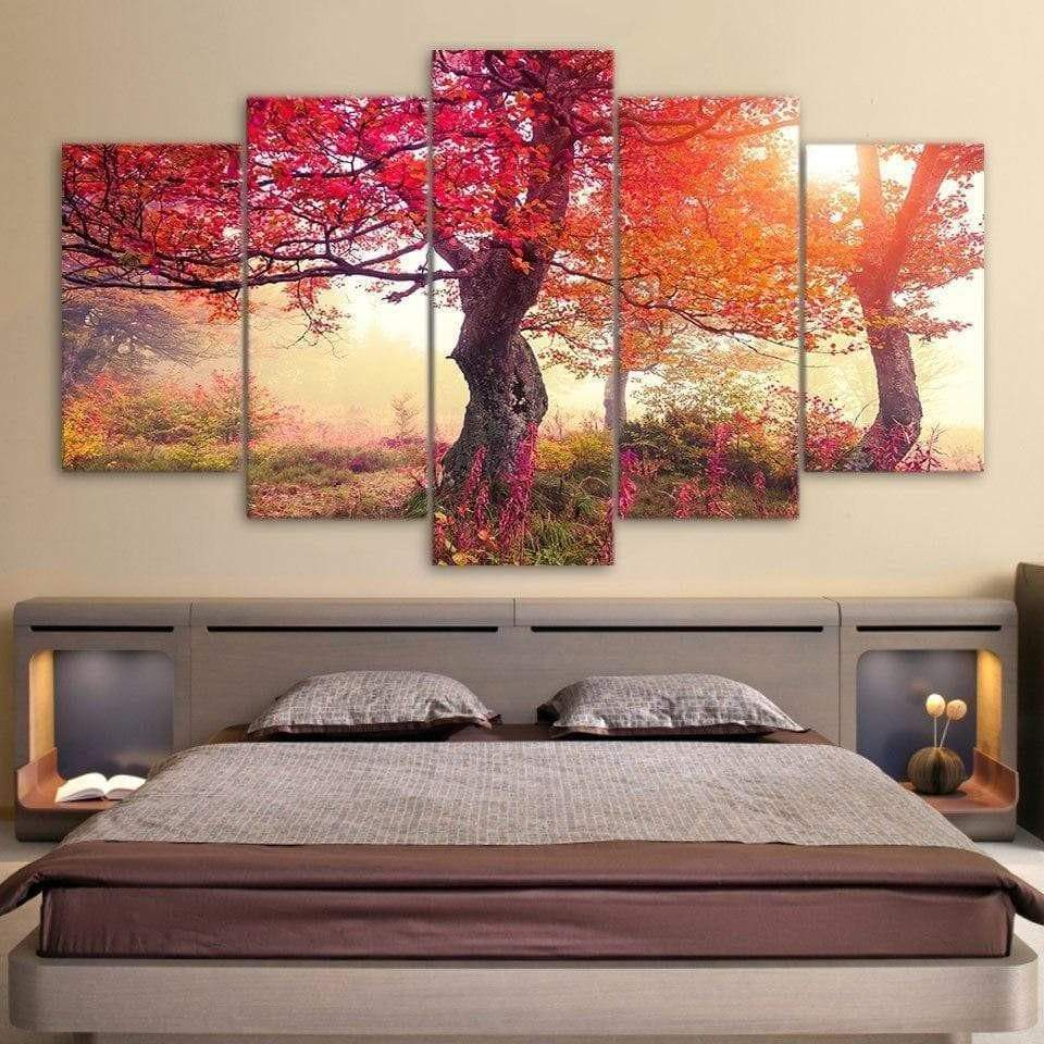 Samaritan Autumn Tree Nature Painting