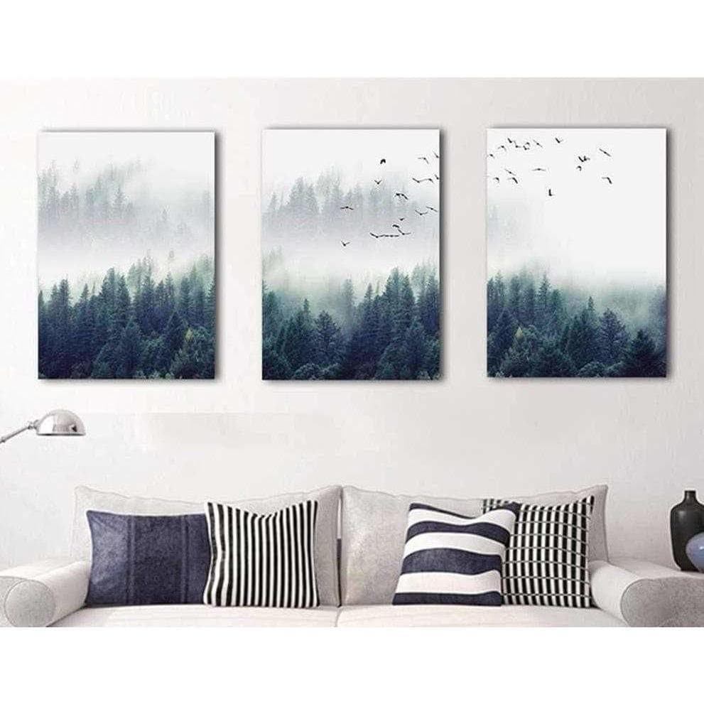 Nordic Forest 3 piece samaritan painting