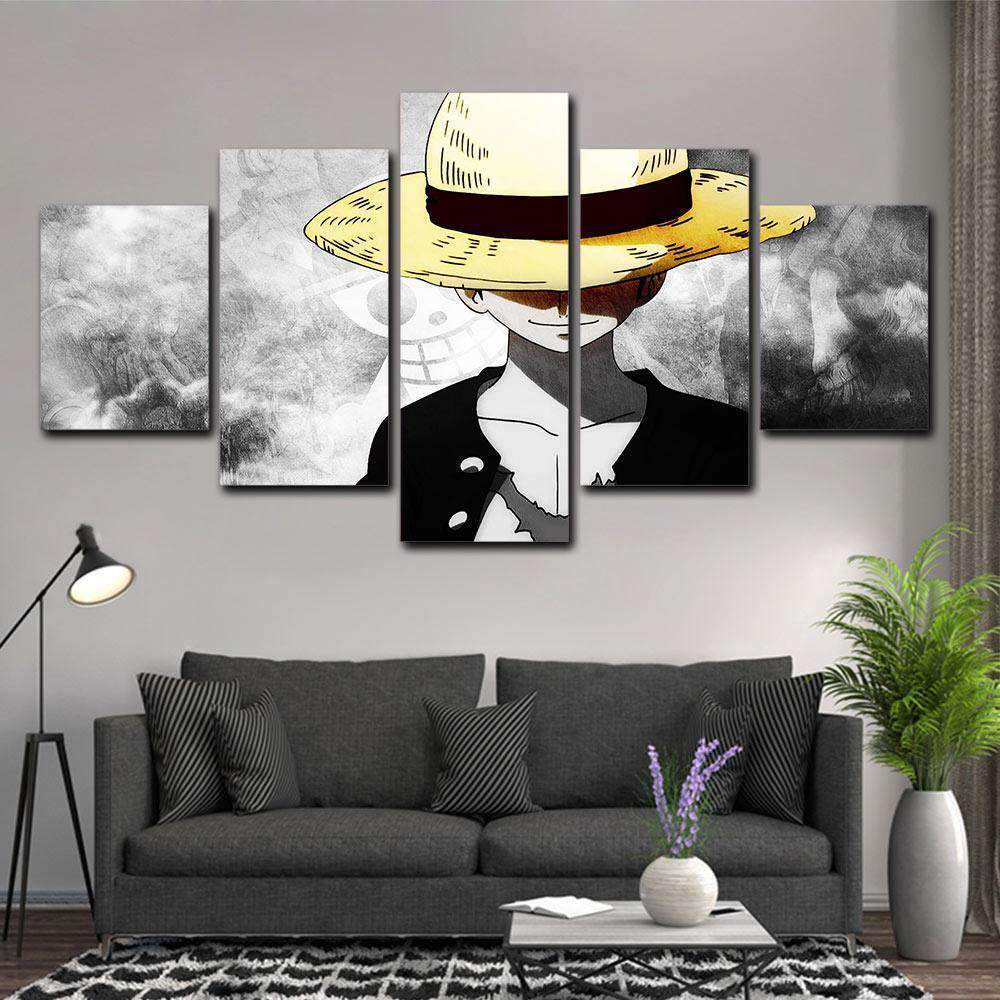 Tableau ONE PIECE LUFFY 5 Parties - RUEDESTABLEAUX.COM