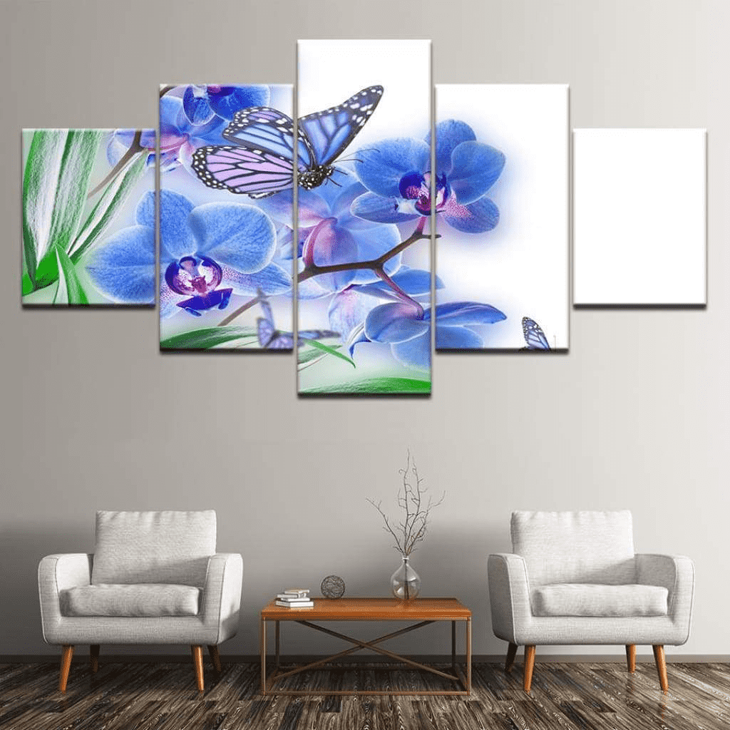 Samaritan Blue Butterfly Painting Butterfly Painting