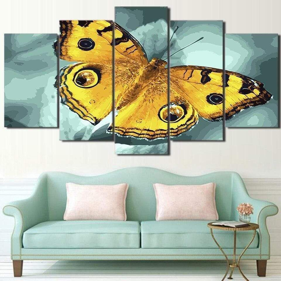 Yellow and Black Samaritan Butterfly Painting Butterfly Painting