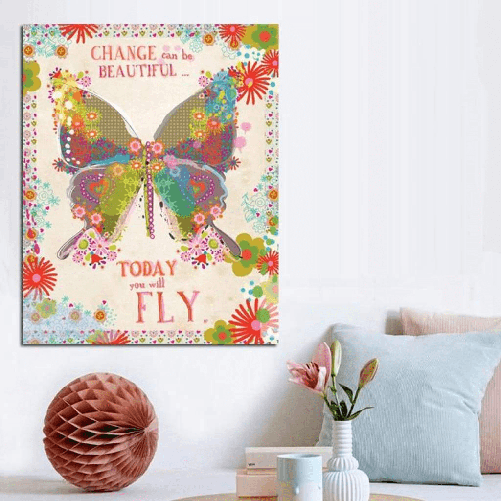 Vintage Samaritan Butterfly Painting Butterfly Painting