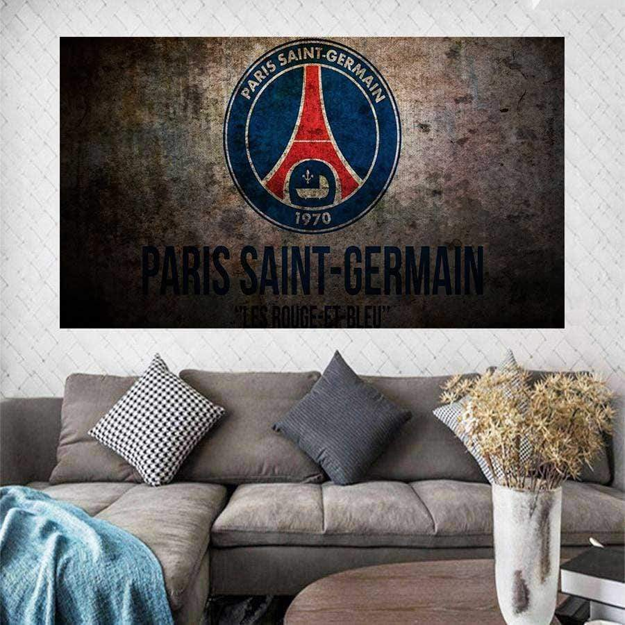 Tableau Paris St Germain 1970 Vintage samaritain tableau sport