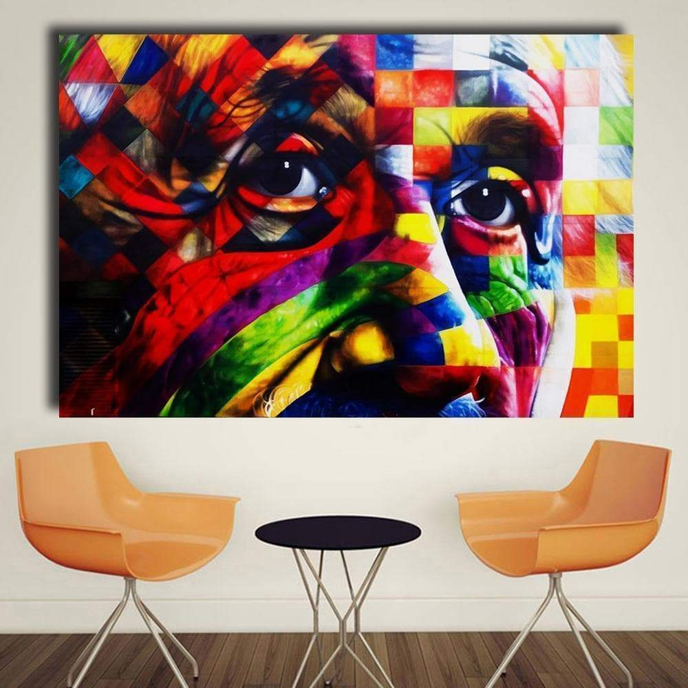 Tableau Pop Art Albert Einstein Portrait samaritain Tableau Pop Art