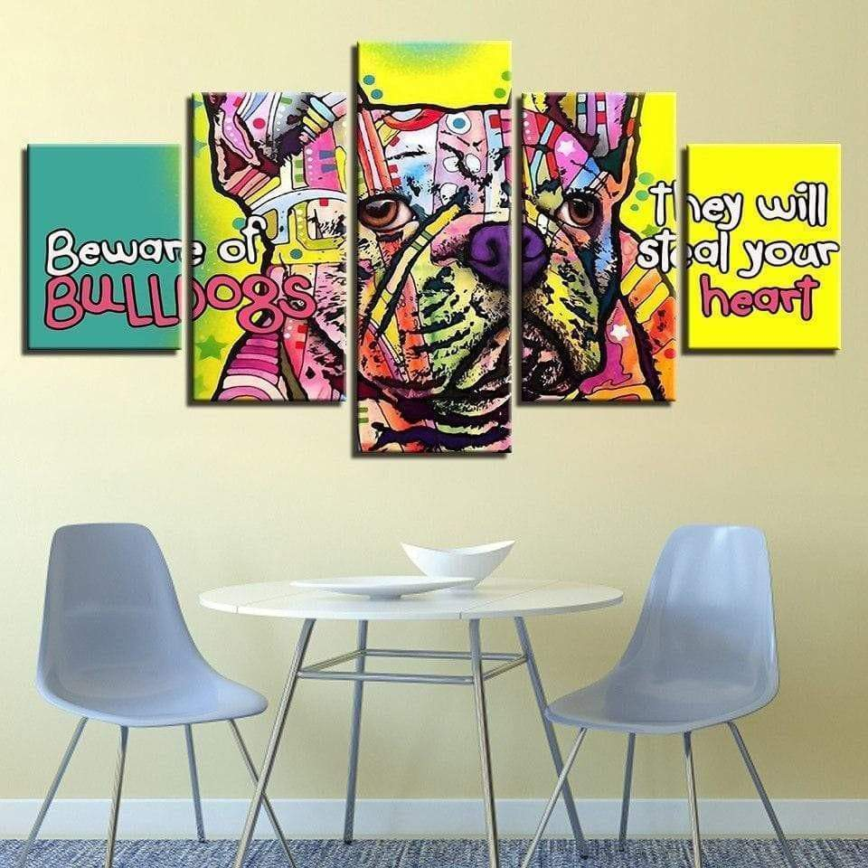 Pop Art malerihund The Samaritan Bulldog Pop Art maleri