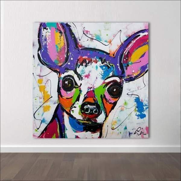 Pop Art Painting Dog The Samaritan Chihuahua Pop Art Painting